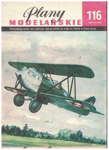 Plany modelarskie 116 - Dvouplošník Bartel BM-5