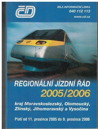 Regionální jízdní řád 2005/2006 - Morava