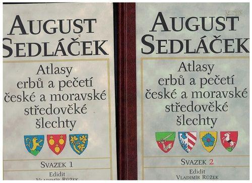 Atlasy erbů a pečetí české a moravské středověké šlechty 1 a 2 - August Sedláček