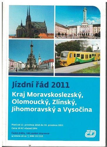 Jízdní řád 2011 - Moravskoslezský, Olomoucký, Zlínský, Jihomoravský, Vysočina