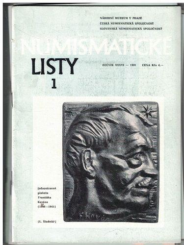 Numismatické listy 1-6/1981 - kompletní ročník