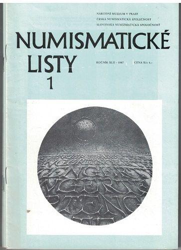 Numismatické listy 1-6/1987 - kompletní ročník