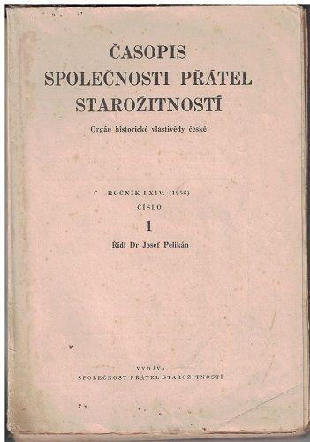 Časopis společnosti přátel starožitností 1-4/1956 - kompletní ročník
