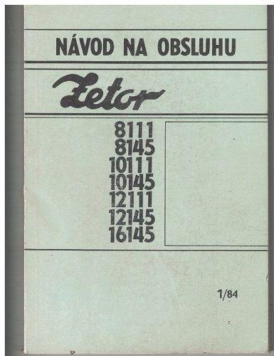 Návod na obsluhu traktoru Zetor 8111 - 16145 - slovensky