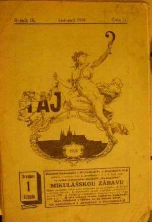 Taj 10 a 11/1928 - besedník čs. hádankářů