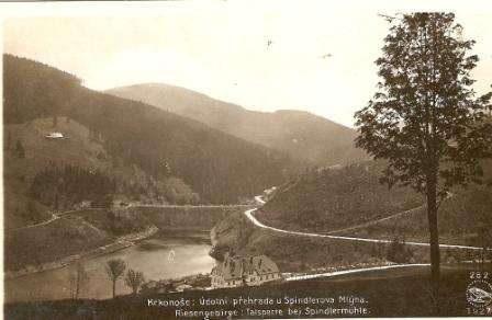 Údolní přehrada - Spindlerův mlýn - Krkonoše