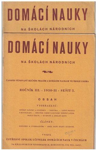 Domácí nauky na školách národních 4 a 5/1930-31
