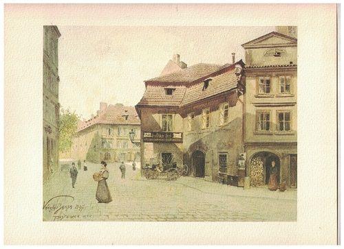 Stará Praha v akvarelech - Václav Jansa