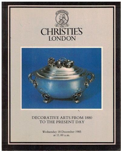 Aukční katalog Christies London 1985 - Decorative Arts from 1880 to the Present Day