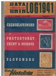 Sběratelský katalog 1941 - Československo, Protektorát, Slovensko