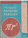 Technické početní tabulky - A. Vacek
