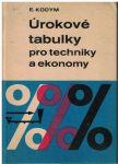 Úrokové tabulky pro techniky a ekonomy - E. Kodym