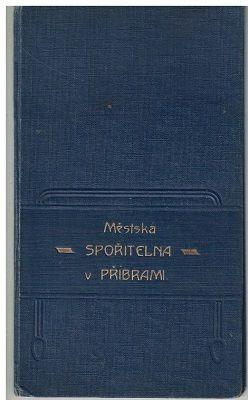 Vkladní knížka - Městská spořitelna Příbram