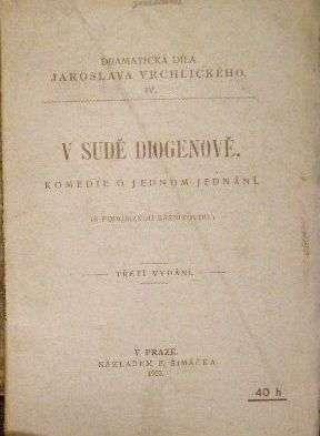 V sudě Diogenově - J. Vrchlický