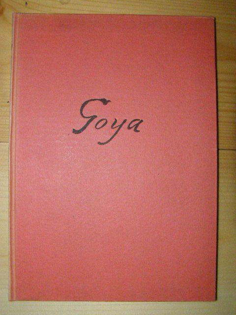 Goya - monografie v němčině.
