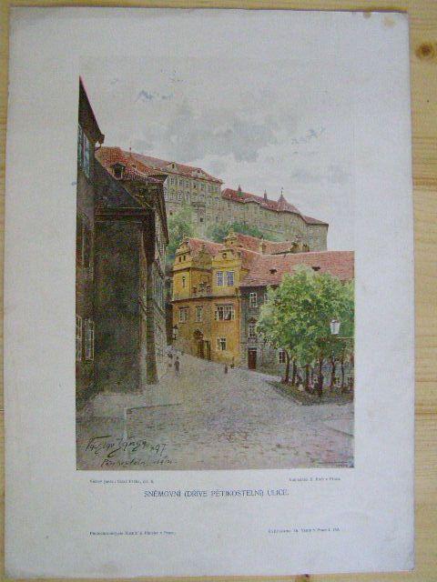 Praha - Sněmovní (dříve Pětikostelní) ulice