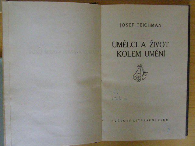Umělci a život kolem umění - J. Teichman