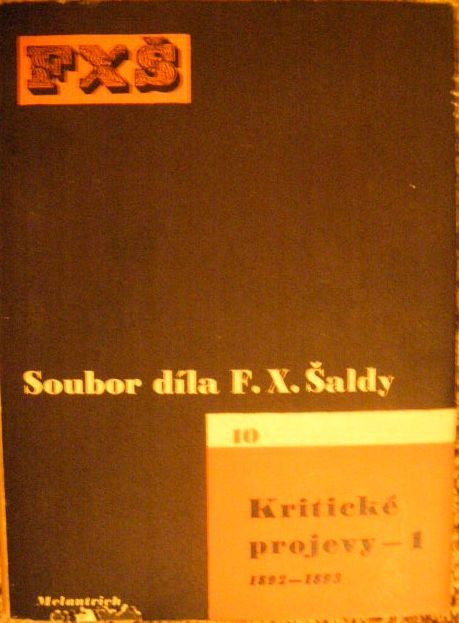 Kritické projevy 1 (1892 - 93) - F. X. Šalda