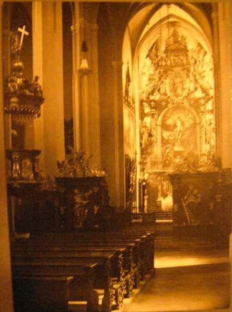 Vyšší Brod - interiér kostela.