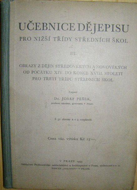 Učebnice dějepisu - 15. - 18. století (1933)