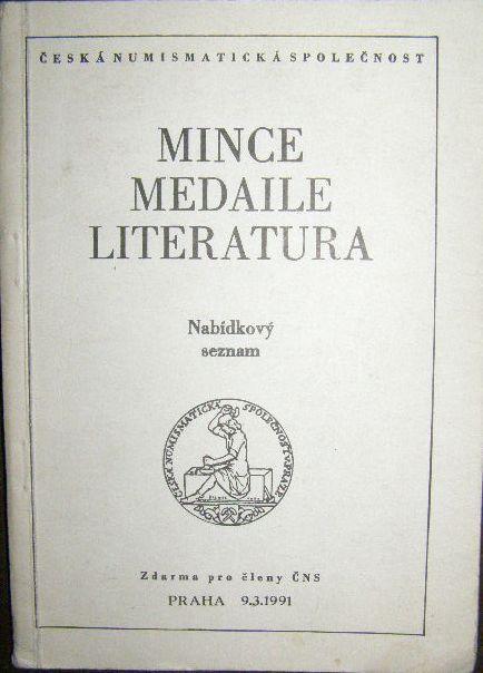 Mince, medaile, literatua - aukce, nabídkový seznam