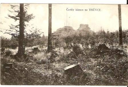 Čertův kámen na Tisůvce - Žďár n. Sázavou