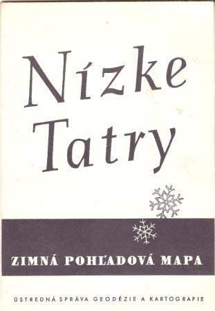 Nízké Tatry - zimní mapa