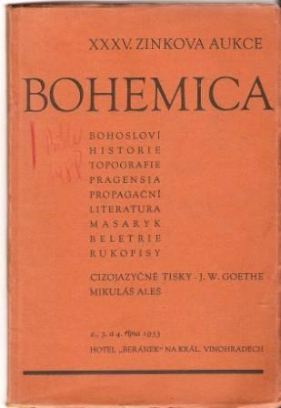 XXXV. Zinkova aukce (Bohemica) - 1933
