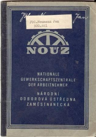 Odborová knížka - 1942