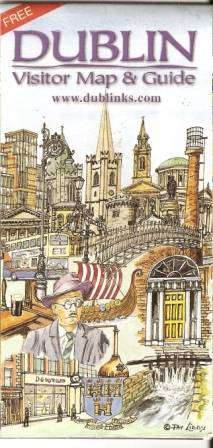 Dublin - ilustovaný plán města