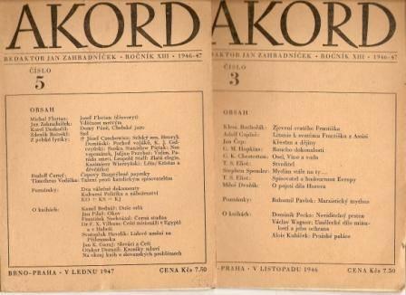 Akord 1946 - 47 - 7 čísel 2 - 8