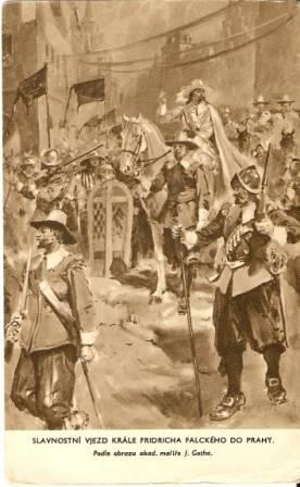Slavnostní vjezd krále Fridricha falckého do Prahy